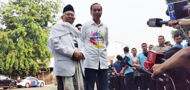 Jokowi-Ma'ruf Amin Jalani Tes Kesehatan