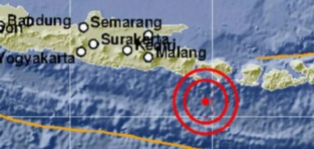 Bali Digoyang Gempa 5,4 SR
