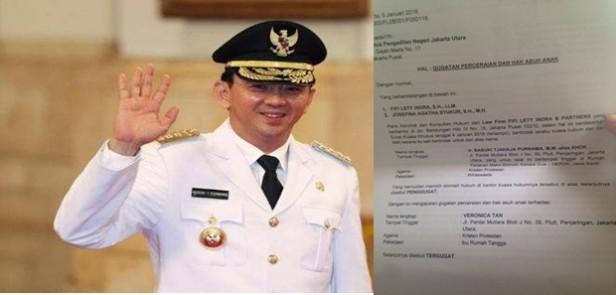 Beredar Surat Basuki Tjahaja Purnama alias Ahok Gugat Cerai Veronica Tan