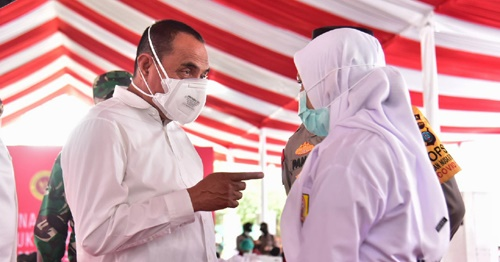 Kejar 70% Vaksinasi di Sumut Gubernur Edy Rahmayadi Minta Masyarakat Jemput Bola