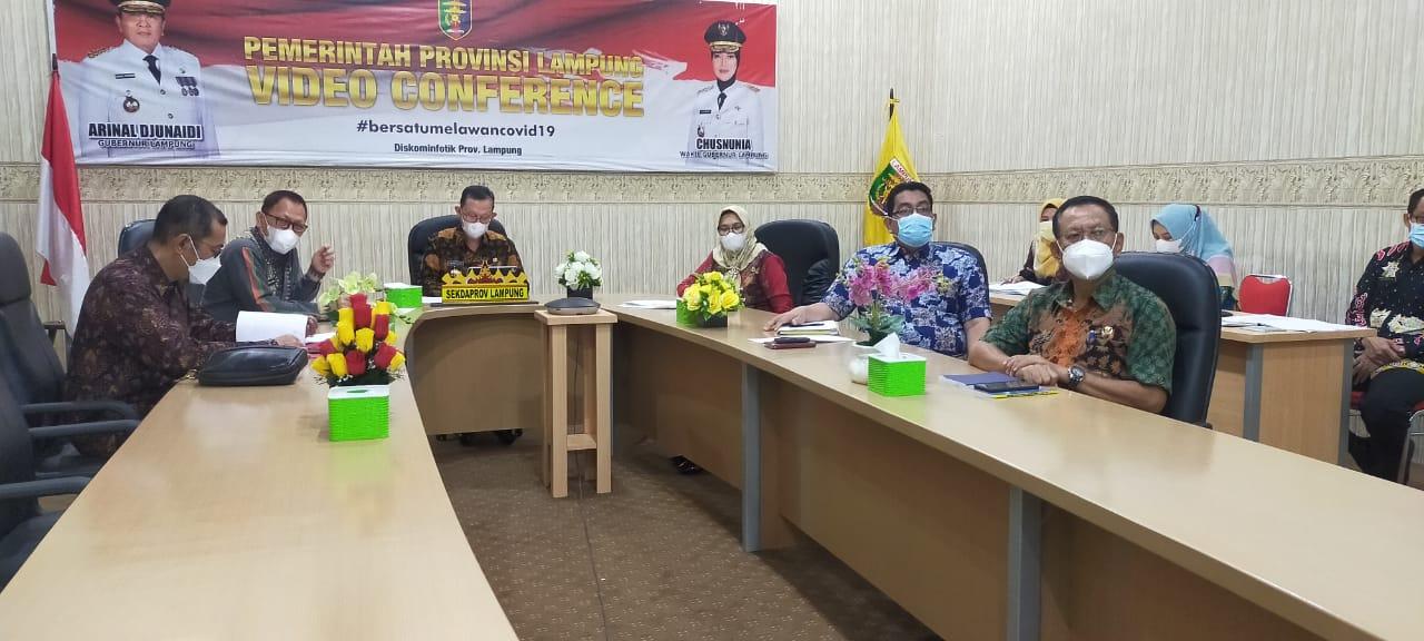 Rapat Koordinasi Percepatan Penegasan Batas Daerah Bersama Menteri Dalam Negeri secara virtual