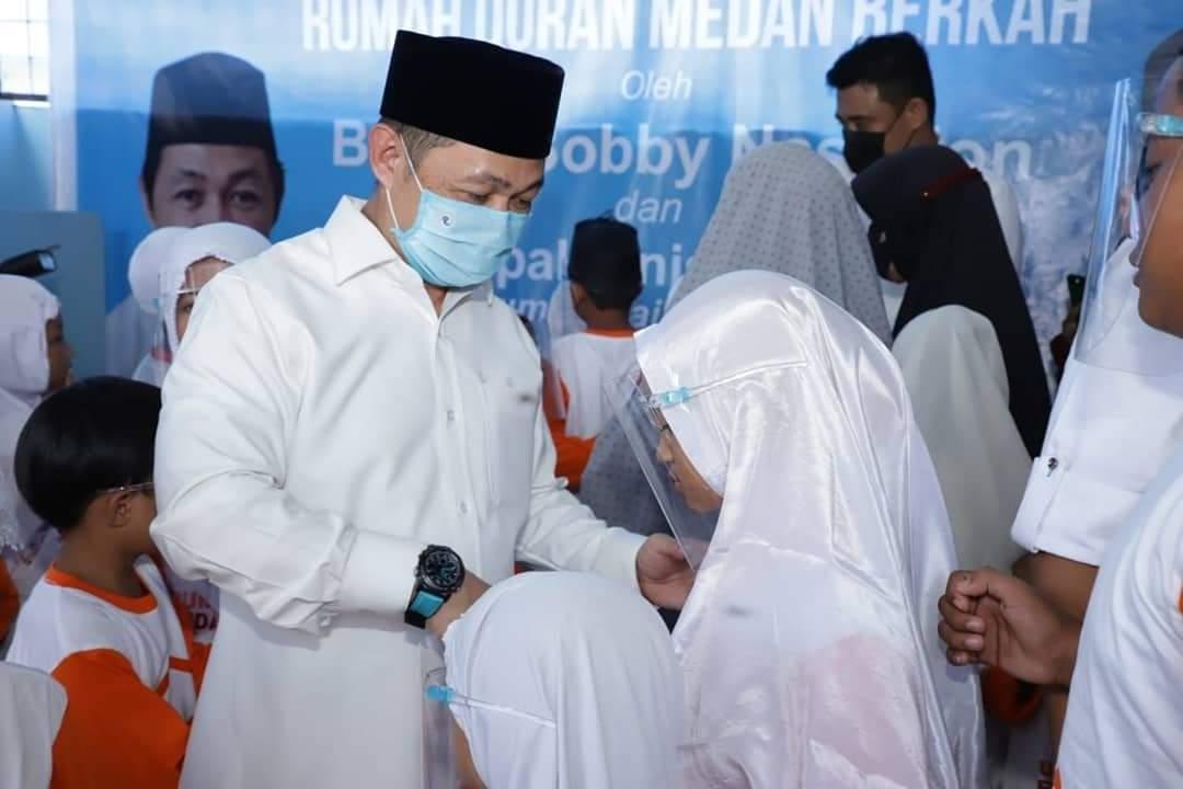Kampanyekan Mantu Jokowi, Anies Matta Buka Rumah Qur'an Di Medan