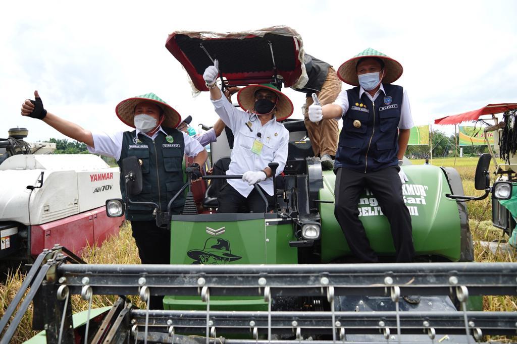 Mentan RI Sebut Sumsel Andalan Produksi  Beras di Indonesia
