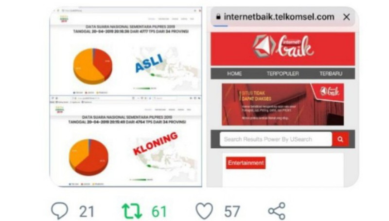 Situs Jurdil2019.org Diblokir dan Dikloning untuk Menangkan Jokowi