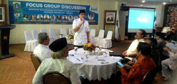 Sandi Harap FGD Dapat Berikan Solusi untuk Kemelut Legalitas BAZIS DKI
