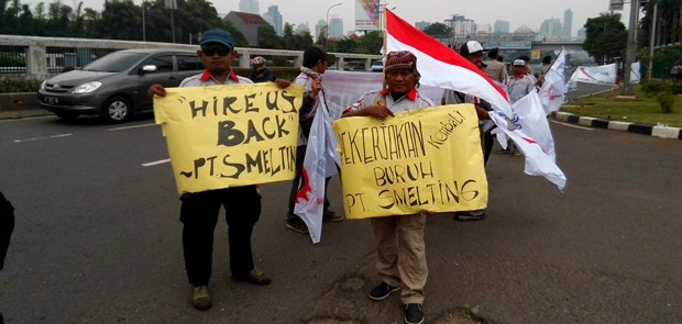 Di-PHK sepihak, karyawan PT Smelting Ngadu ke DPR