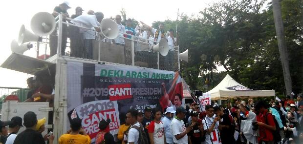 Relawan #2019GantiPresiden Resmi Dilaunching di Monas