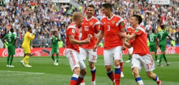 Laga Pembuka Piala Dunia 2018, Rusia Bantai Arab Saudi 5-0