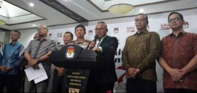 KPU Tetapkan Jokowi-Ma'ruf Amin dan Prabowo-Sandi Sebagai Kandidat Pilpres 2019