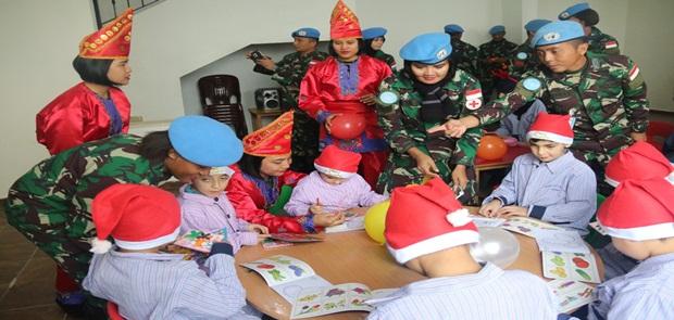 Cimic Satgas Indobatt kunjungi Sekolah Al-Farah di Lebanon