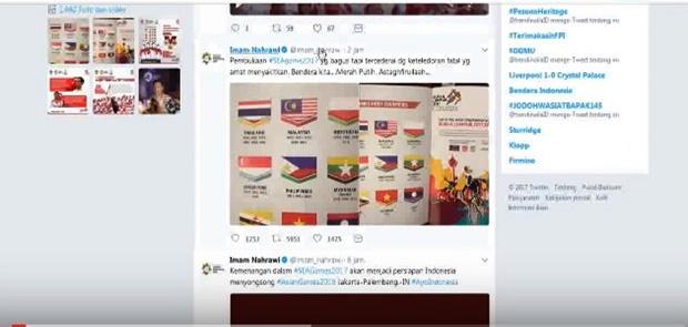 Bendera Indonesia Tercetak Terbalik diBuku Panduan SEA Games 2017