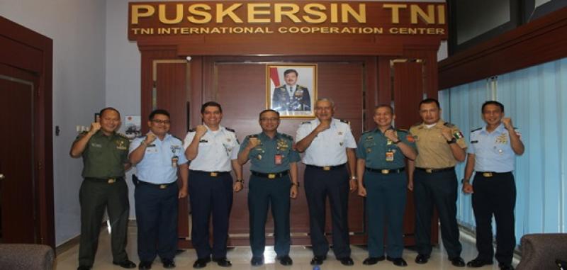Kapuskersin TNI Terima Kunjungan Atase Pertahanan Meksiko