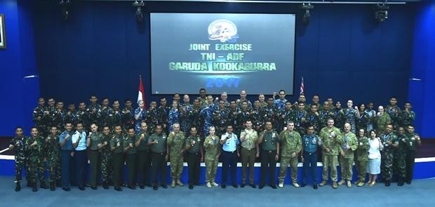 TNI dan ADF Gelar Latihan Bersama Garuda Kookaburra 2017