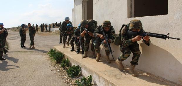 Prajurit TNI Satgas Indobatt XXIII-K Latih Tentara UNIFIL dan LAF