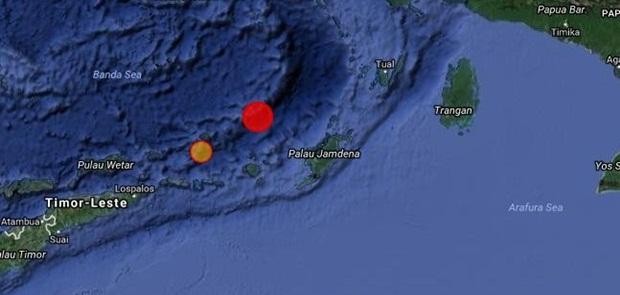 Getaran 2 Gempa Besar dari Laut Banda Terasa Hingga Utara Australia