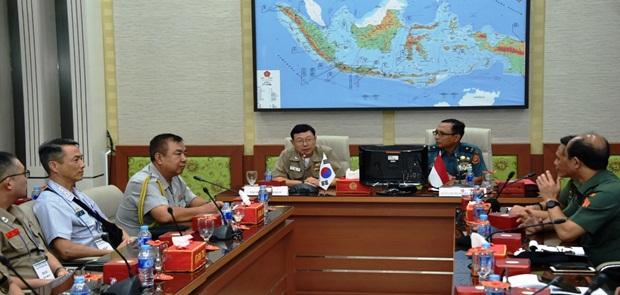 Perwira Sesko Militer Korea Studi Strategis di Mabes TNI