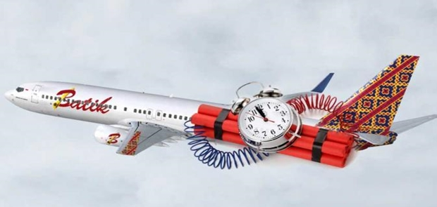 Becanda Soal Bom di Pesawat Sekarang Bisa Dituntut Perdata