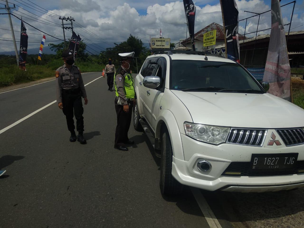 Polres Way Kanan Operasi Ketupat Krakatau 2020, Lakukan Pembatasan Kendaraan