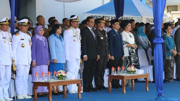 Hadiri HUT TNI AL KE-74, Gubernur Anies Apresiasi TNI AL Sebagai Garda Terdepan Menjaga Kesatuan RI