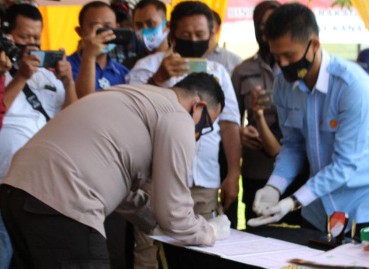 Polres Way Kanan Gelar Deklarasi Damai Pilkada Serentak Tahun 2020