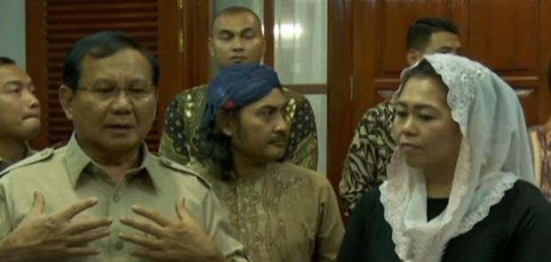 Prabowo Sedih Tawarannya Untuk Maju Pilkada Jatim ditolak Yenny Wahid