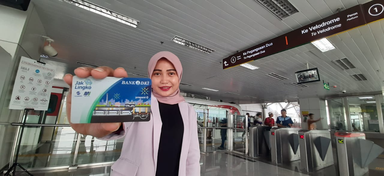 Transaksi LRT Jakarta Gunakan Kartu JakCard dan JakLingko Bank DKI