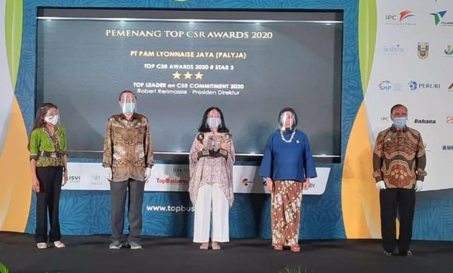 PALYJA Sabet Dua Penghargaan TOP CSR Awards 2020