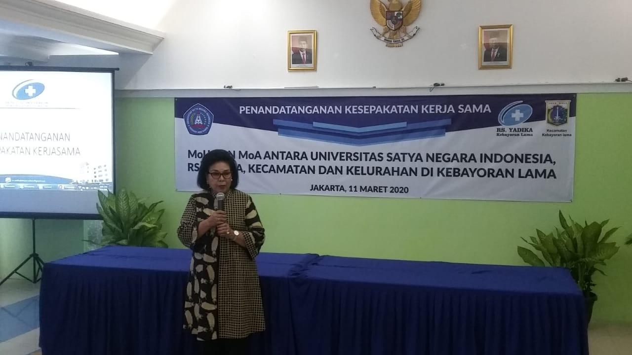 Rektor Usni Harap Kerjasama Dengan RS Yadika Dan Pemerintah Dongkrak Prestasi Siswa