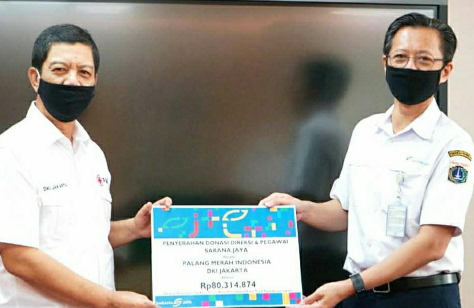 PMI DKI Jakarta Terima Bantuan Dari Sarana Jaya
