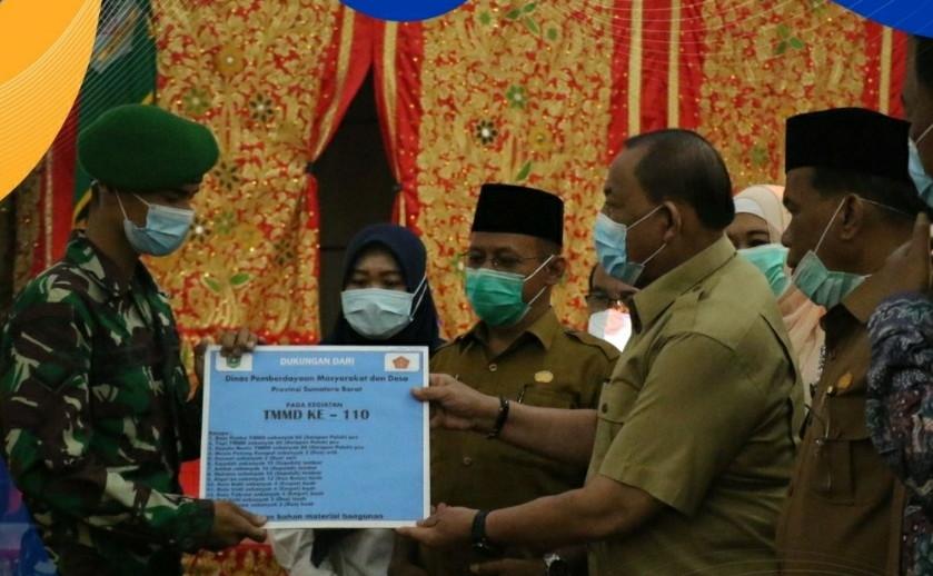 TMMD Wujud Sinergi Membangun Negeri ke-110 Kabupaten Padang Pariaman dan Kepulauan Mentawai Resmi Dibuka