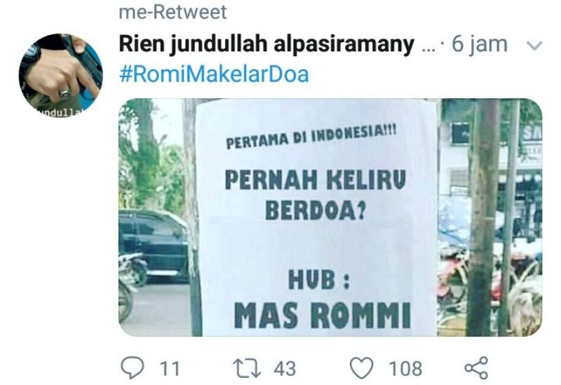 """Ralat Doa Mbah Moen, Romy """"Babak Belur"""" Dihajar Warganet"""