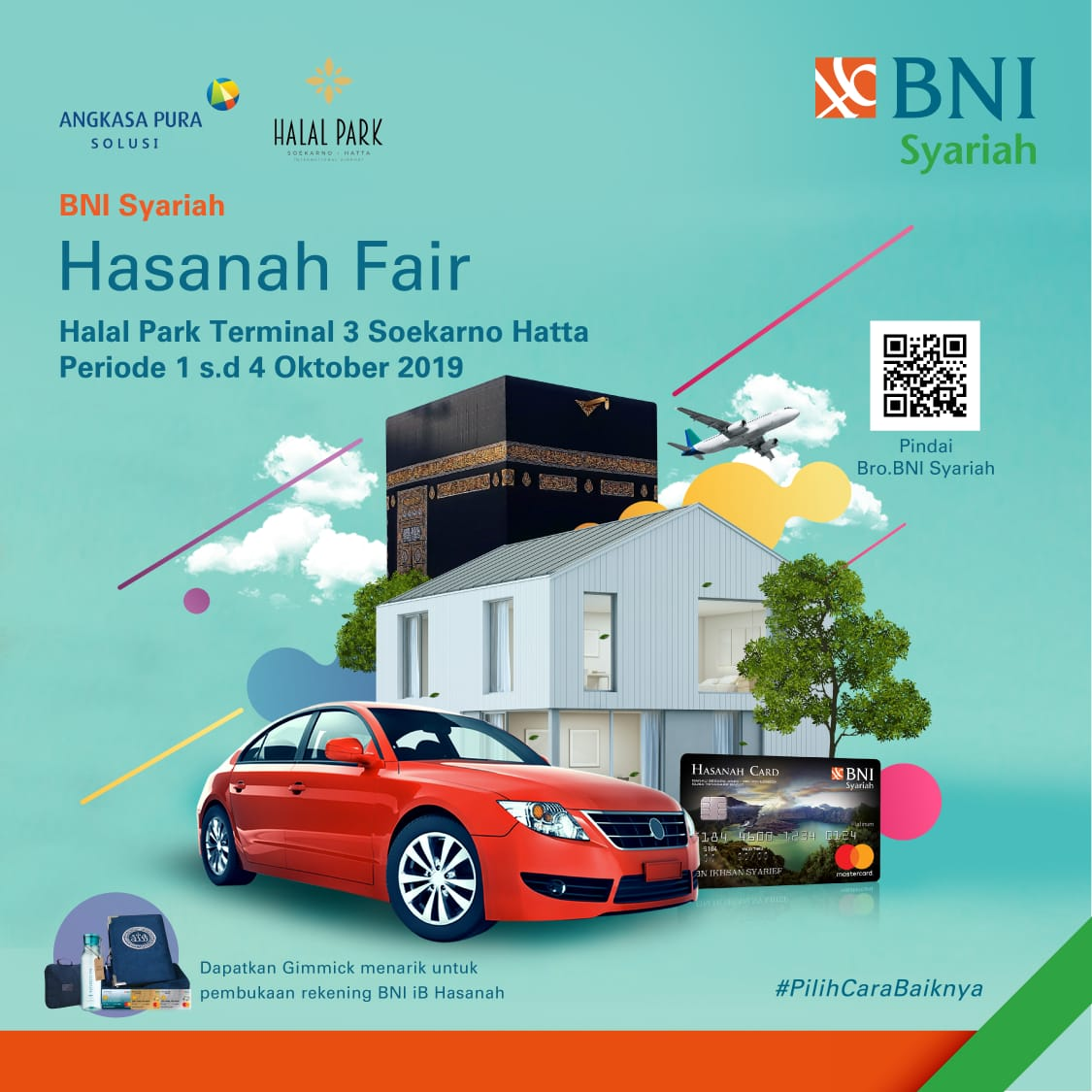BNI Syariah Berkontribusi Dalam Acara Hasanah Fair  di Terminal 3 Bandara Soetta