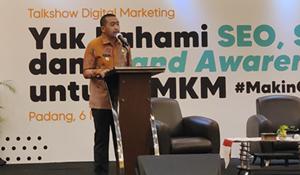 Wagub Audy Joinaldy Dukung Pemanfaatan Teknologi Digital Bagi UMKM