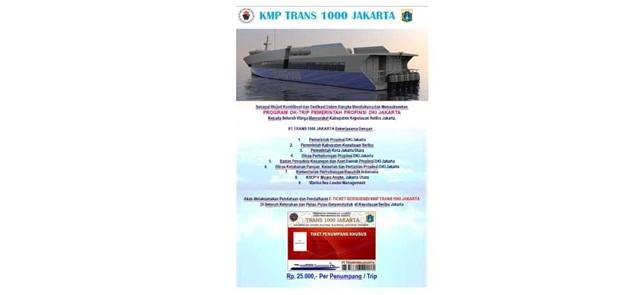 Tarif Kapal Trans 1000 Turun Jadi Rp 25.000, Aroma Monopoli Makin Kuat