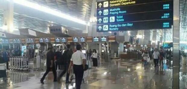 Letusan Senpi Polisi Kejutkan Calon Penumpang Bandara Soetta