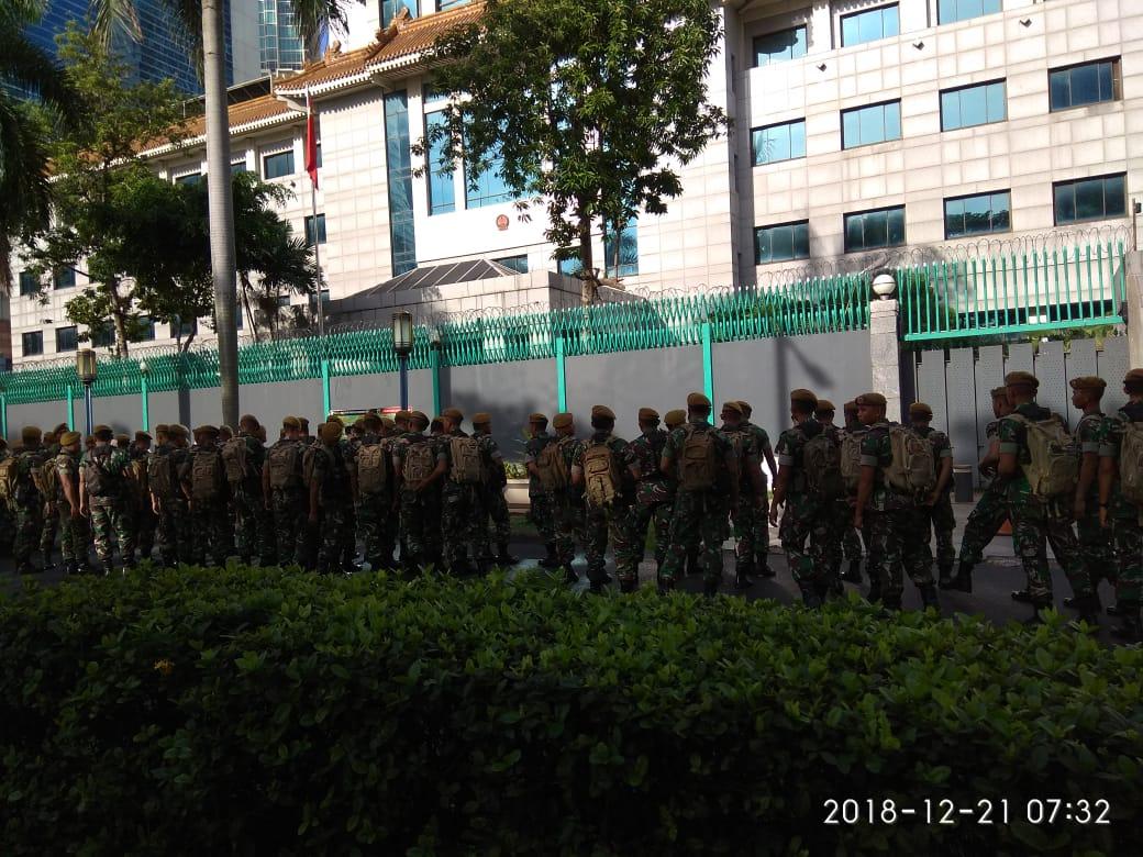 Penjagaan keamanan super ketat telah dilakukan sejak Pagi
